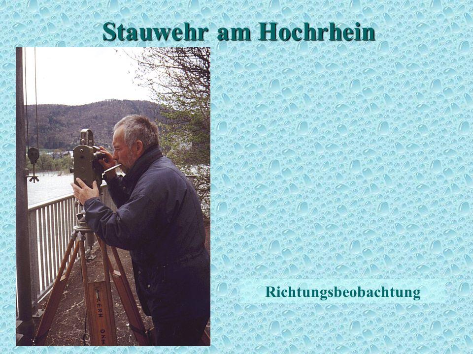 Stauwehr am Hochrhein Richtungsbeobachtung