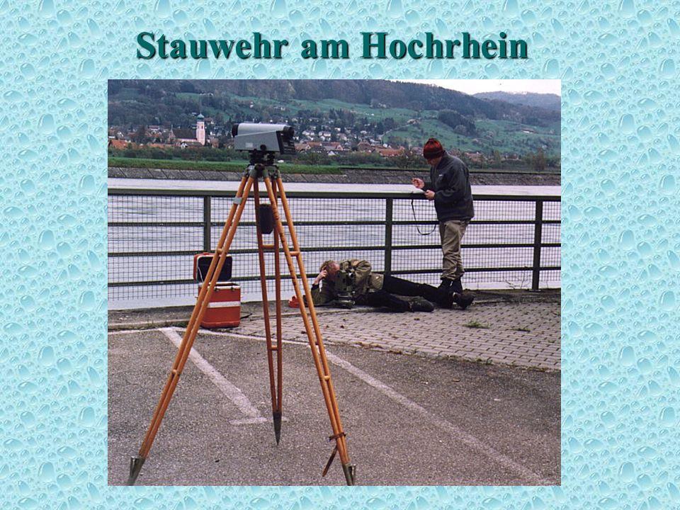 Stauwehr am Hochrhein Höhenbestimmung 4