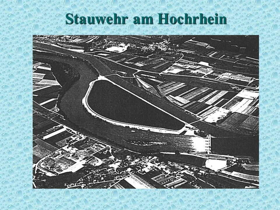 Stauwehr am Hochrhein Aubecken 1
