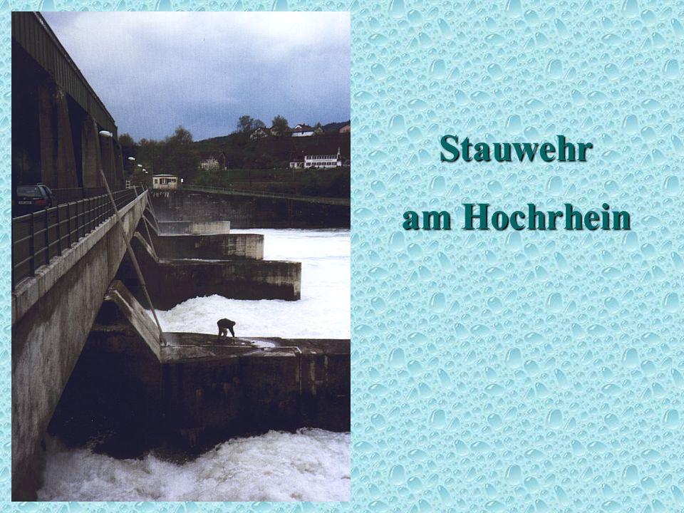 Stauwehr am Hochrhein Stauwehr 2