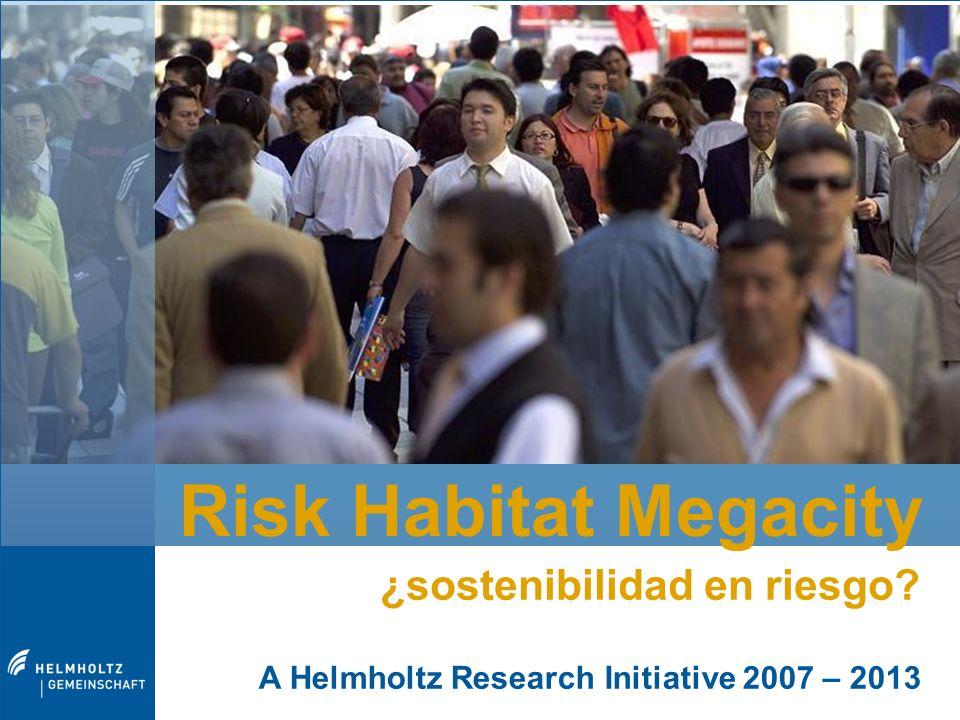 Risk Habitat Megacity ¿sostenibilidad en riesgo.Risk Habitat Megacity Dr.