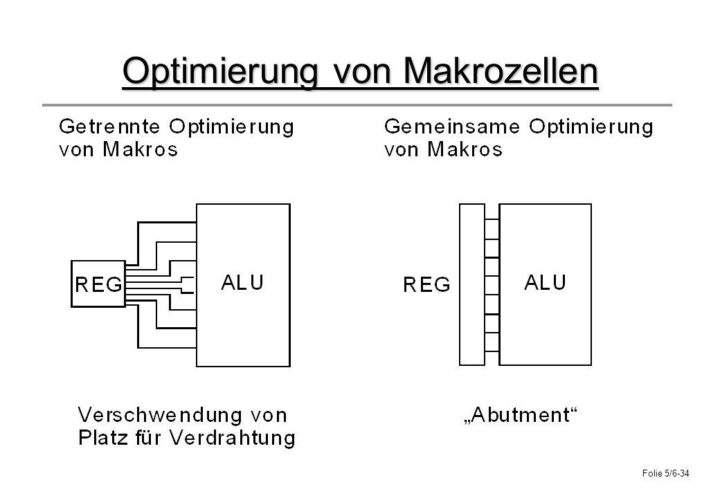 Folie 5/6-34 Optimierung von Makrozellen