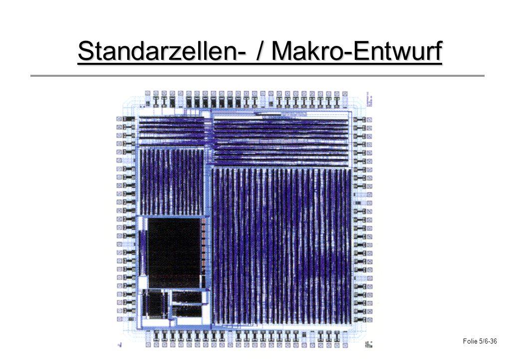 Folie 5/6-36 Standarzellen- / Makro-Entwurf