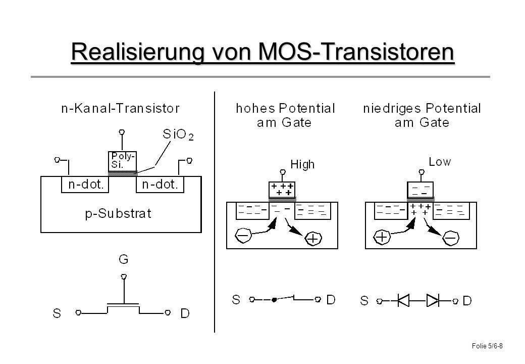 Folie 5/6-8 Realisierung von MOS-Transistoren