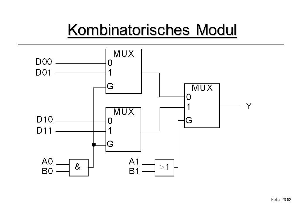 Folie 5/6-92 Kombinatorisches Modul