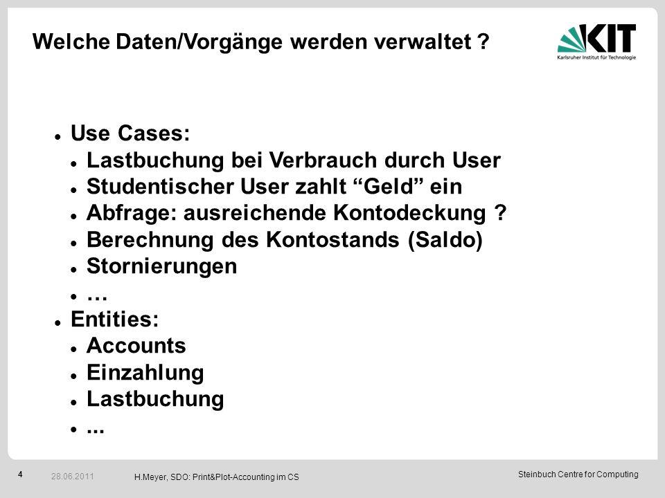 4Steinbuch Centre for Computing Welche Daten/Vorgänge werden verwaltet .