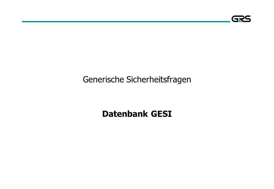Generische Sicherheitsfragen Datenbank GESI