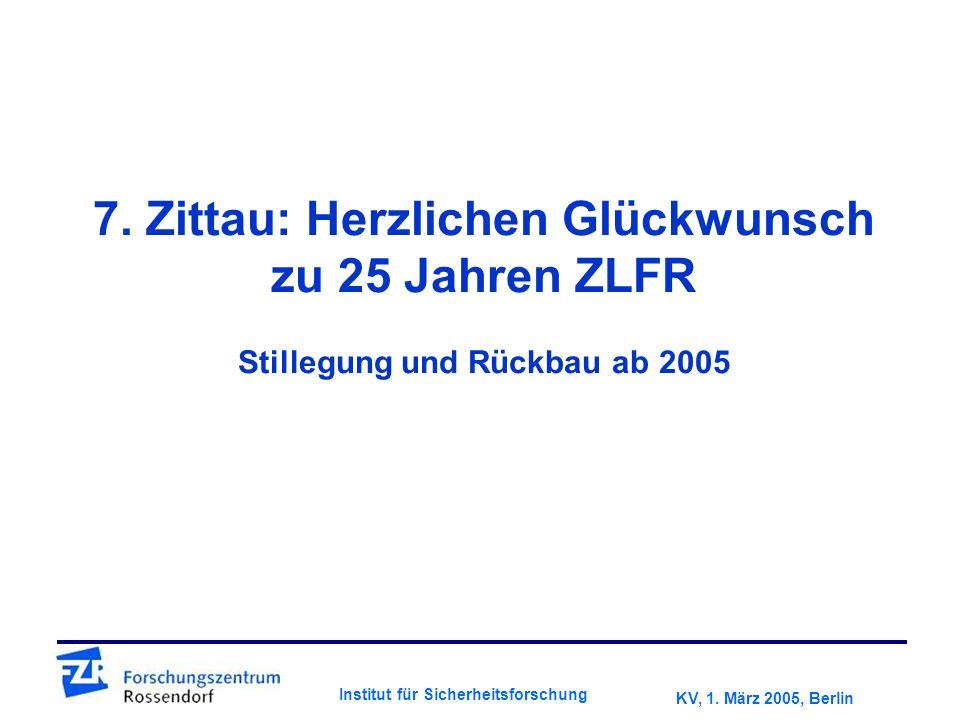 KV, 1. März 2005, Berlin Institut für Sicherheitsforschung 7.