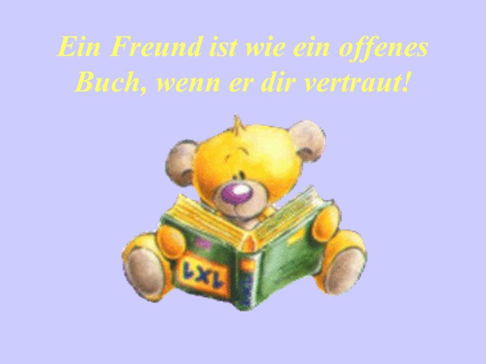 Ein Freund ist wie ein offenes Buch, wenn er dir vertraut!