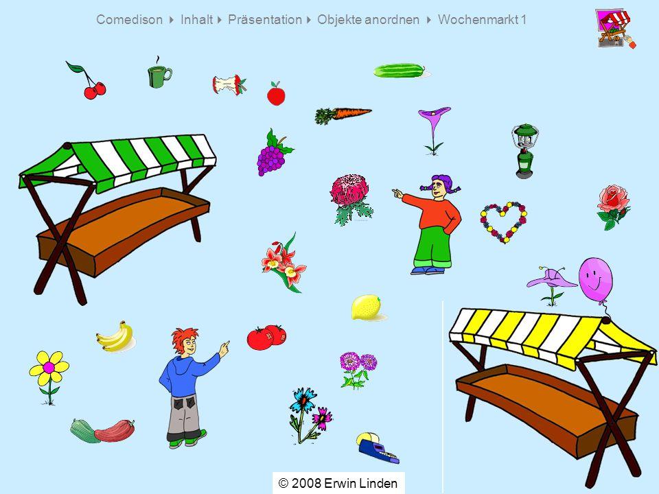 Comedison Inhalt Präsentation Objekte anordnen Wochenmarkt 1 © 2008 Erwin Linden