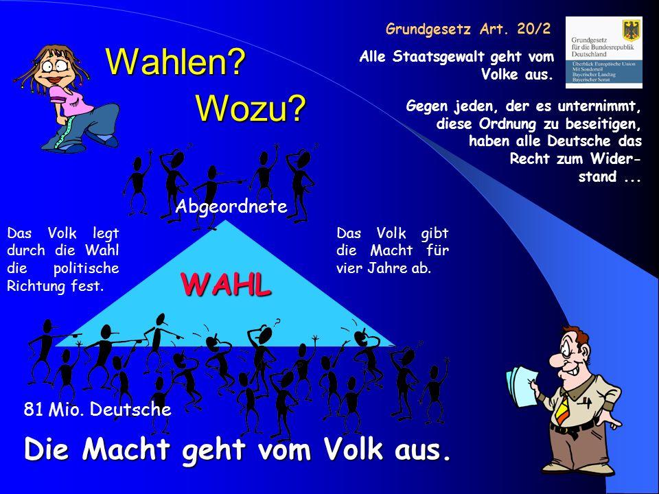 Deutscher Bundestag Wähler Wahlkreise Kandidaten Wählen einen Kandidaten einer Partei Abgeordneter ist, wer die meisten Stimmen erhält.