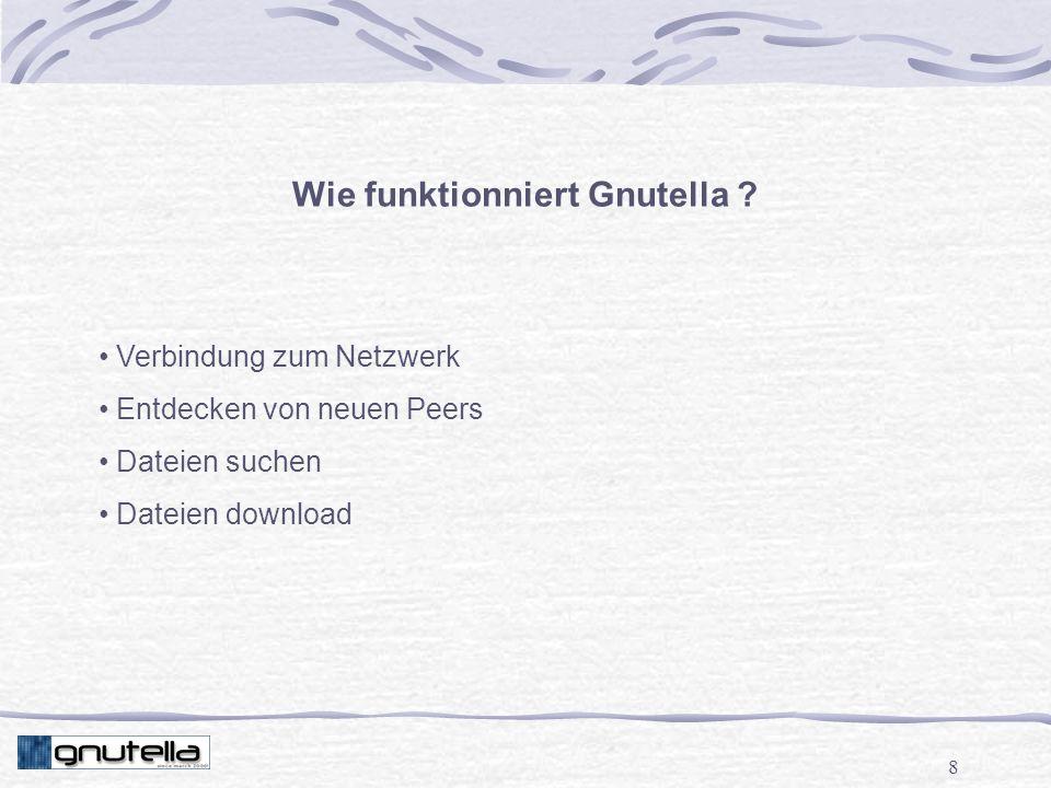 8 Wie funktionniert Gnutella .