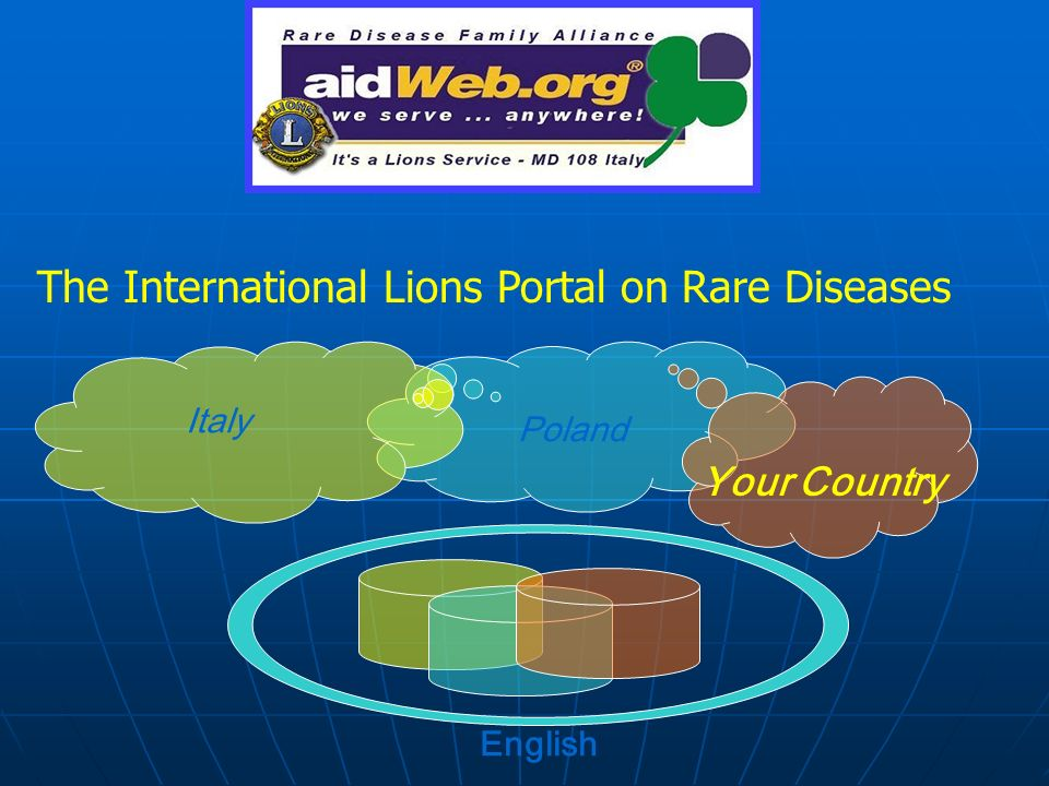 Italy Poland Your Country English The International Lions Portal on Rare Diseases