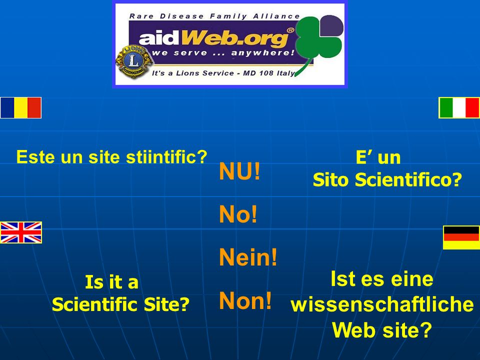 E un Sito Scientifico. Este un site stiintific. Is it a Scientific Site.