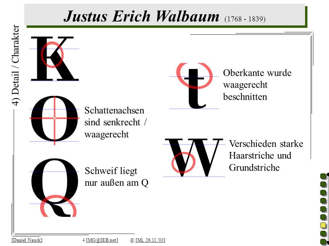 Justus Erich Walbaum (1768 - 1839) [Daniel Nauck]4 [MG@IEB.net]@ [Mi, 26.11. 03] 4) Detail / Charakter Schweif liegt nur außen am Q Schattenachsen sind senkrecht / waagerecht Oberkante wurde waagerecht beschnitten Verschieden starke Haarstriche und Grundstriche