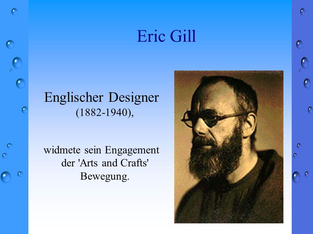 Englischer Designer (1882-1940), widmete sein Engagement der 'Arts and Crafts' Bewegung.