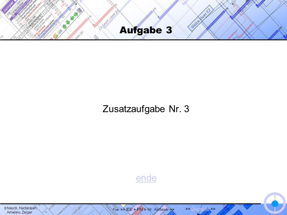 Nauck, Nadarajah, Amelew, Zeiger >> Übersicht >>Übersicht Fuer >> IEB > PM > Hr. Andexer >> Aufgabe 3 Zusatzaufgabe Nr. 3 ende