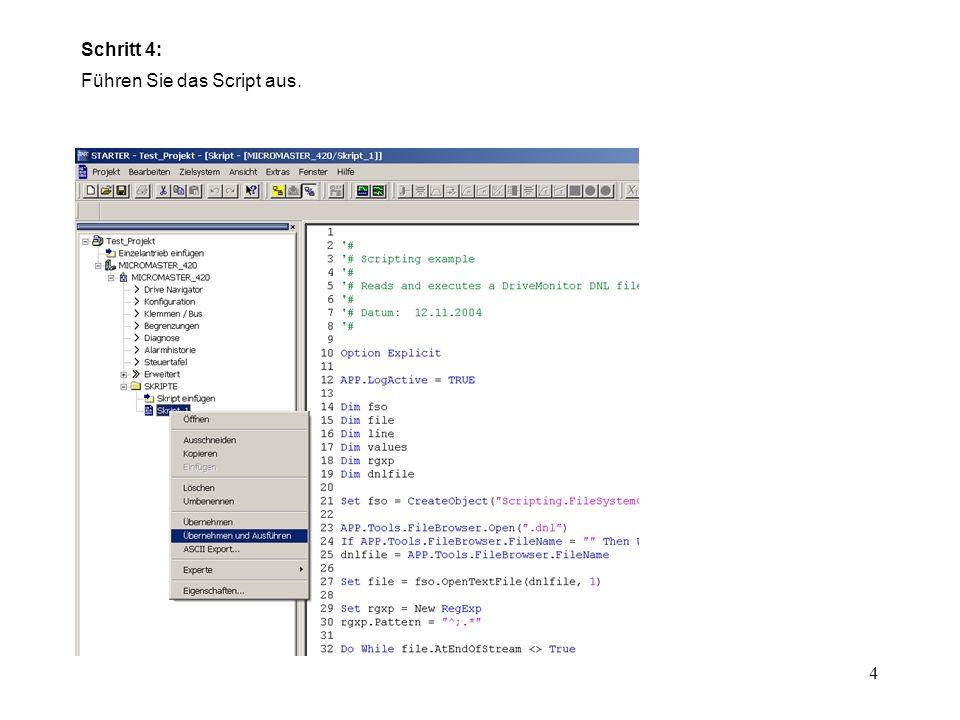 5 Schritt 5: Wählen Sie das MICROMASTER dnl-File aus. Auswahl der.dnl Datei