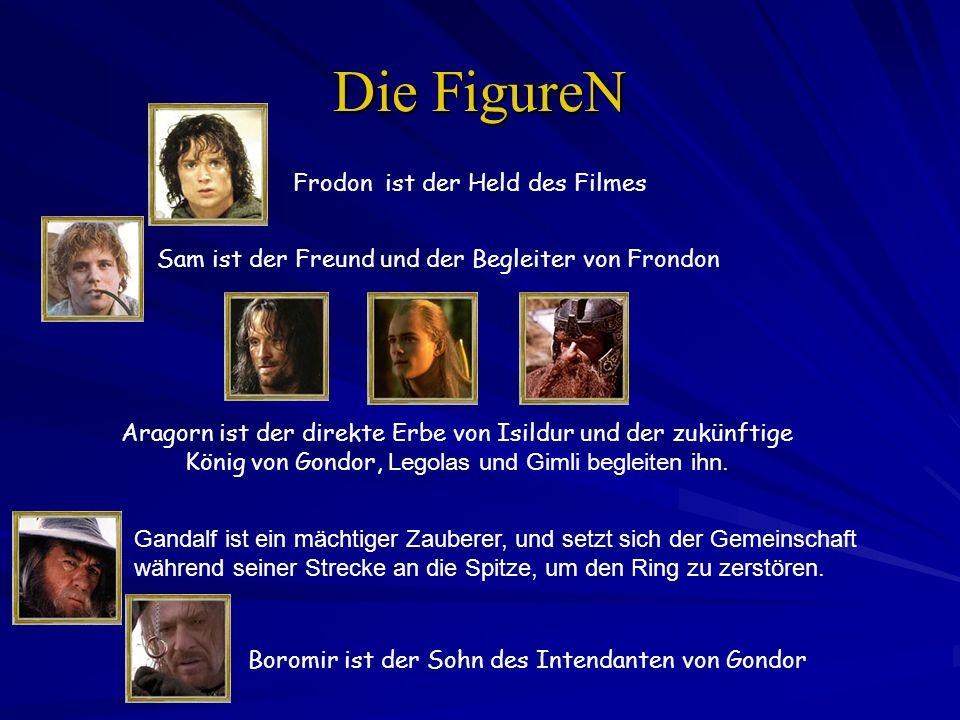 Die FigureN Frodon ist der Held des Filmes Gandalf ist ein mächtiger Zauberer, und setzt sich der Gemeinschaft während seiner Strecke an die Spitze, u