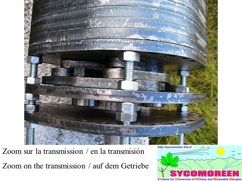Zoom sur la transmission / en la transmisión Zoom on the transmission / auf dem Getriebe