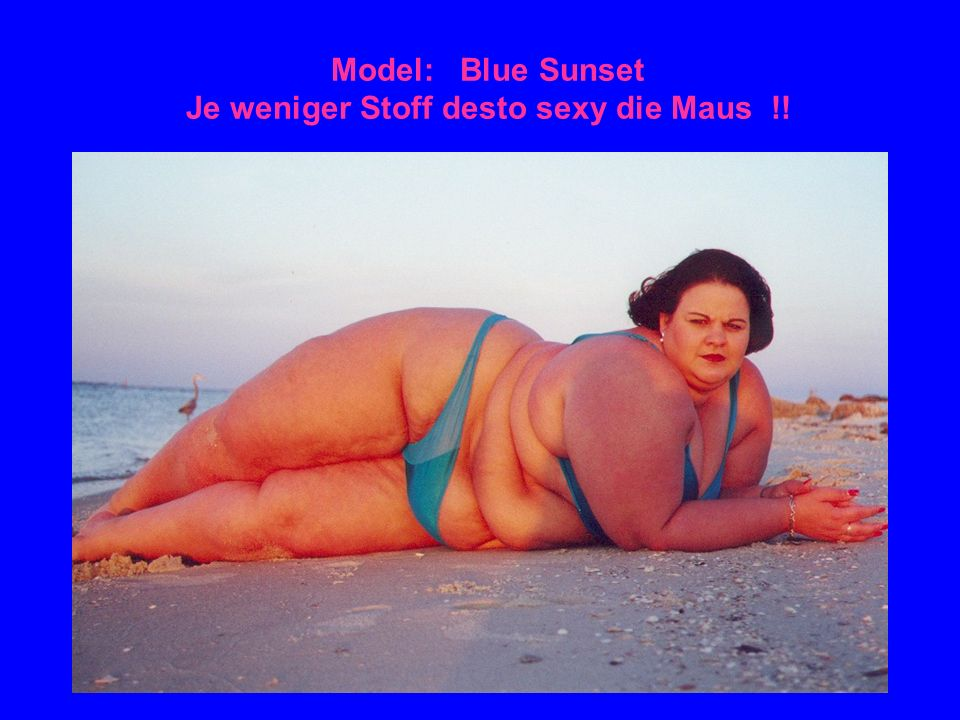 Model: Blue Sunset Je weniger Stoff desto sexy die Maus !!