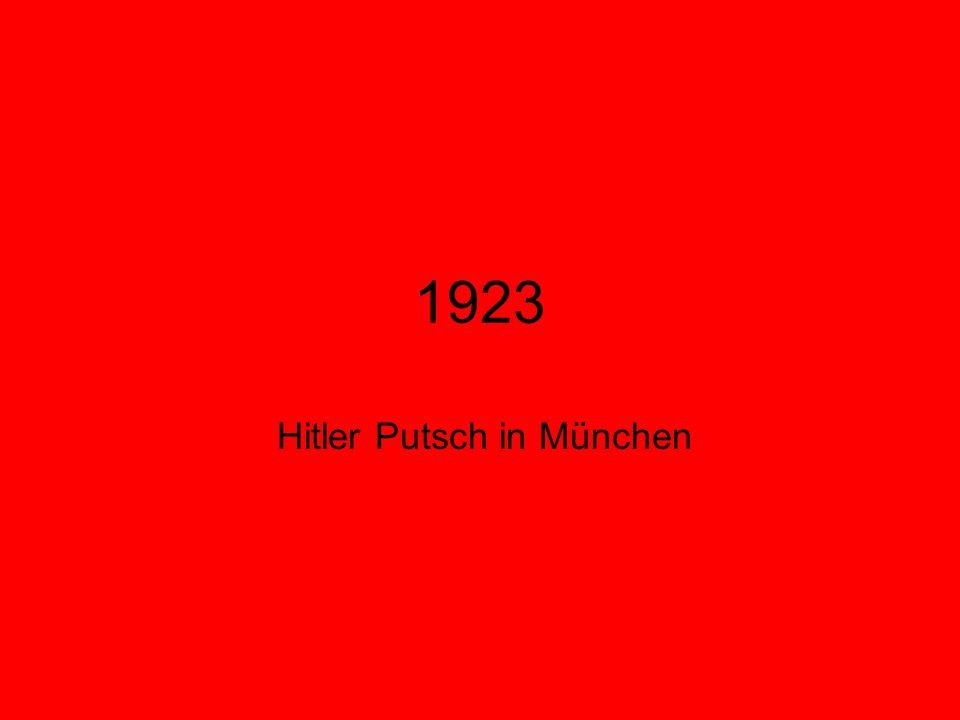 1923 Hitler Putsch in München