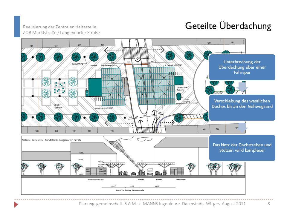 Realisierung der Zentralen Haltestelle ZOB Marktstraße / Langendorfer Straße 8Planungsgemeinschaft S A M + MANNS Ingenieure Darmstadt, Wirges August 2