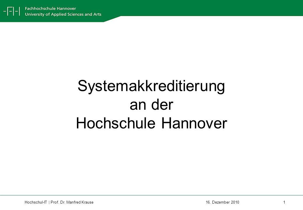 Hochschul-IT | Prof.Dr. Manfred Krause 12 16.