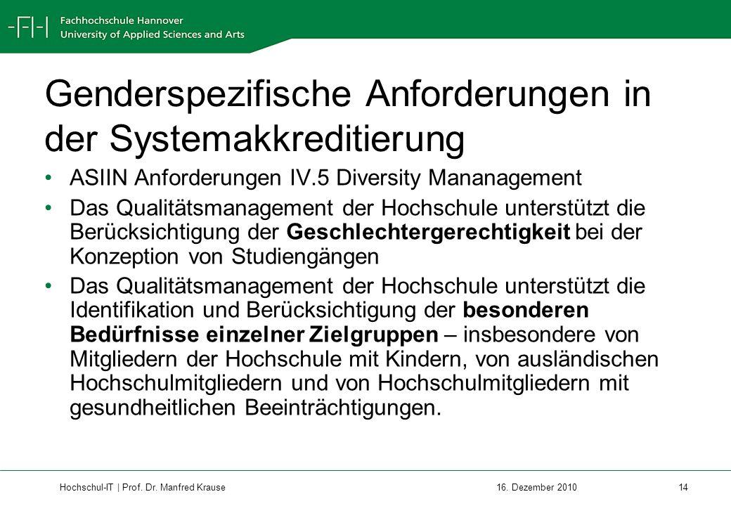 Hochschul-IT | Prof.Dr. Manfred Krause 14 16.