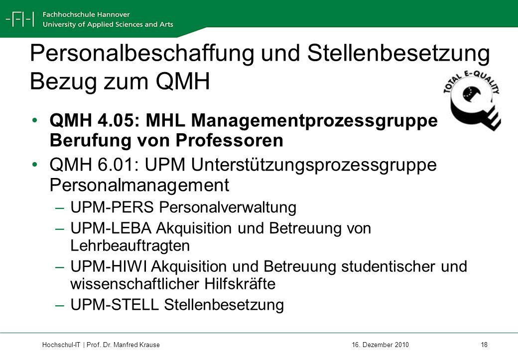 Hochschul-IT | Prof.Dr. Manfred Krause 18 16.