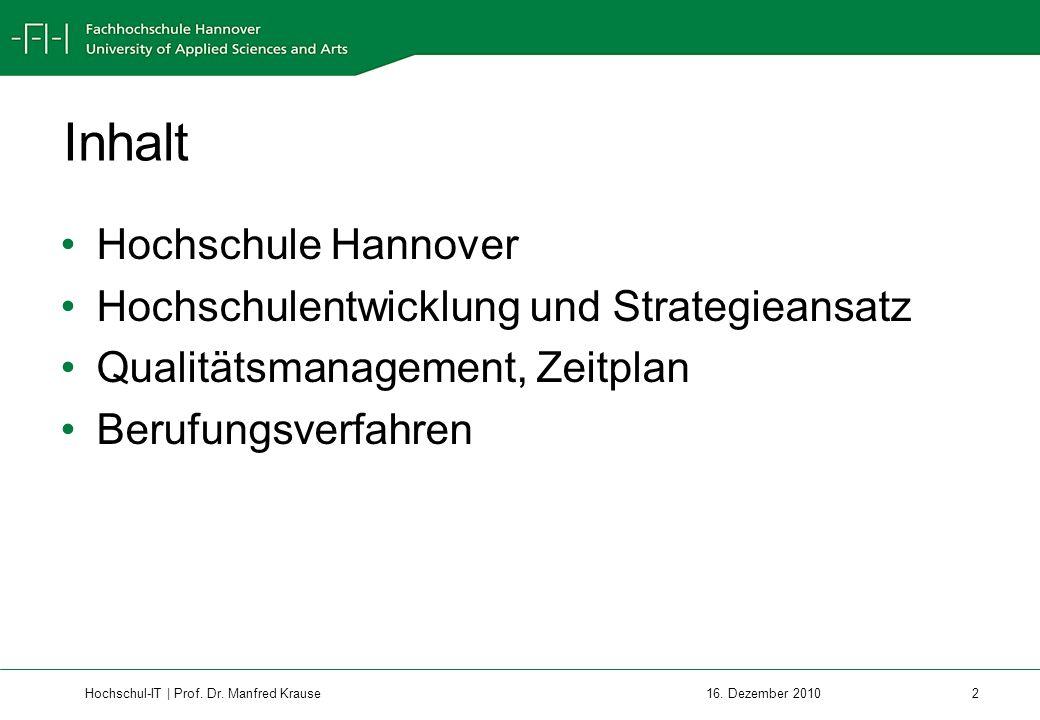 Hochschul-IT | Prof.Dr. Manfred Krause 2 16.