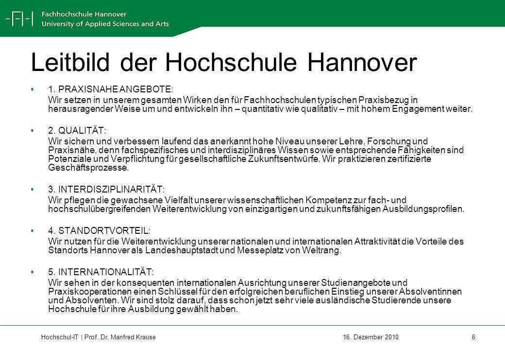 Hochschul-IT | Prof.Dr. Manfred Krause 17 16.