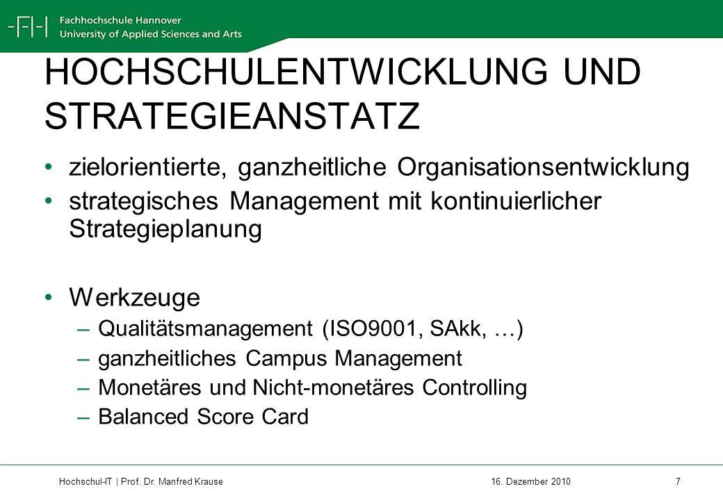 Hochschul-IT | Prof.Dr. Manfred Krause 8 16.