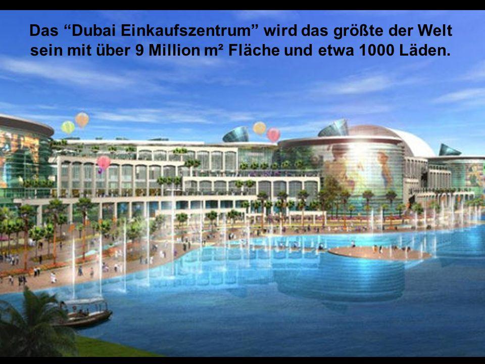 Das Dubai Marina ist vollständig vom Menschen erbaut.