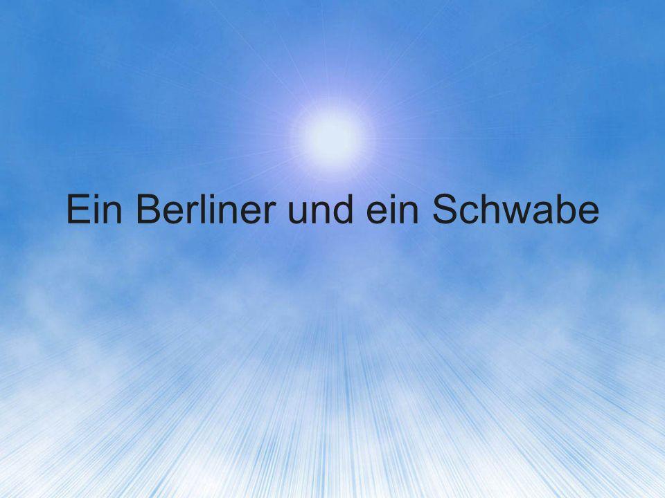 Ein Berliner und ein Schwabe sitzen im Flieger nach Afrika nebeneinander.