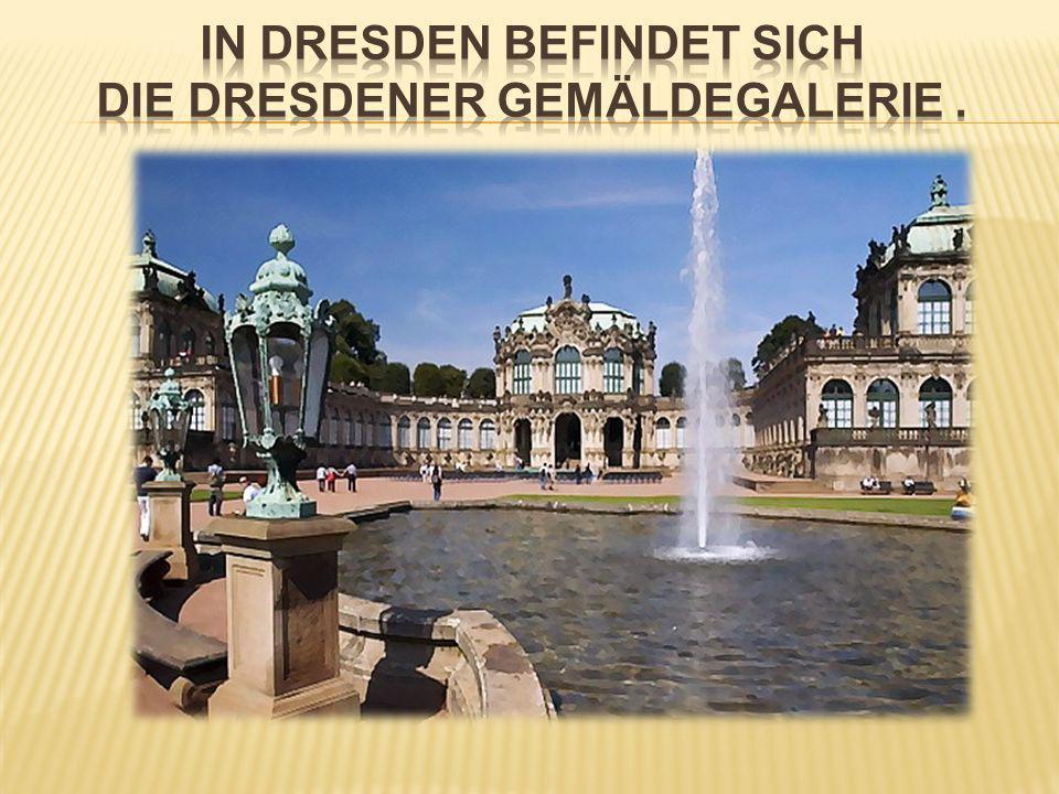 Die Dresdener Gemäldegalerie gehört zu den bedeutendsten reichsten und schönsten Bildersammlungen der Welt.