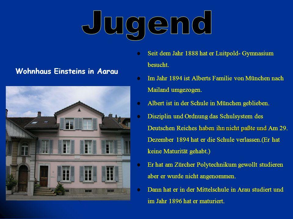 Seit dem Jahr 1888 hat er Luitpold- Gymnasium besucht. Im Jahr 1894 ist Alberts Familie von München nach Mailand umgezogen. Albert ist in der Schule i