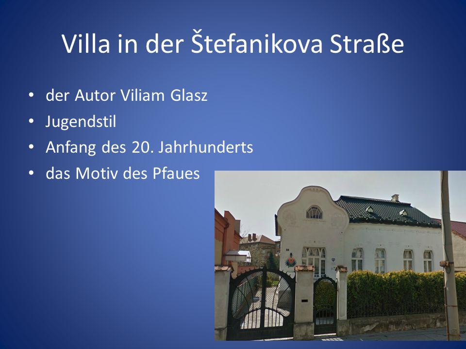 Villa in der Štefanikova Straße der Autor Viliam Glasz Jugendstil Anfang des 20.