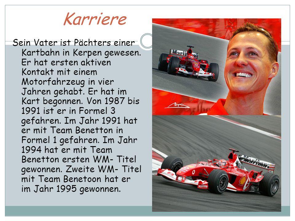 Die Ära Ferrari Im Jahr 1996 er hat ein Angebot aus dem Team Ferrari angenommen.