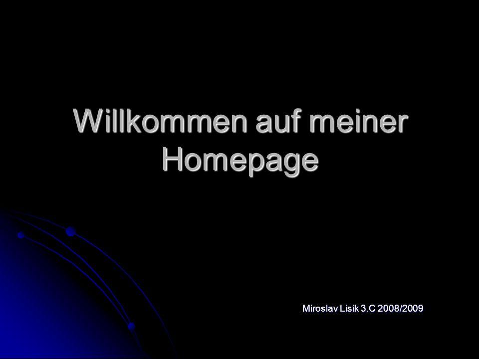 Willkommen auf meiner Homepage Miroslav Lisik 3.C 2008/2009