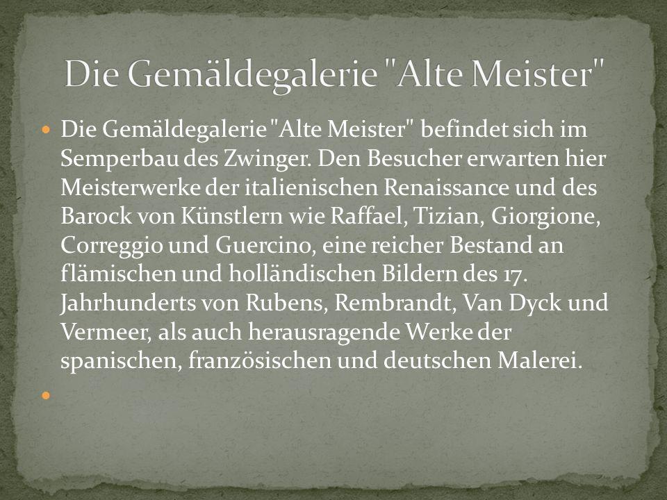 Raffael: Sixtinische Madonna Canaletto: Dresden vom rechten Elbufer unterhalb der Augustusbrücke