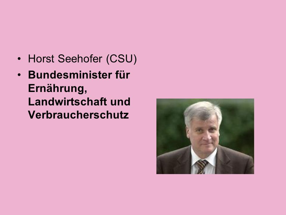 Michael Glos (CSU) Bundesminister für Wirtschaft und Technologie