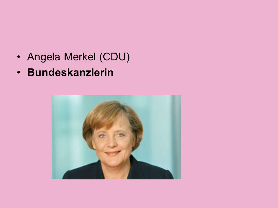Angela Merkel (CDU) Bundeskanzlerin