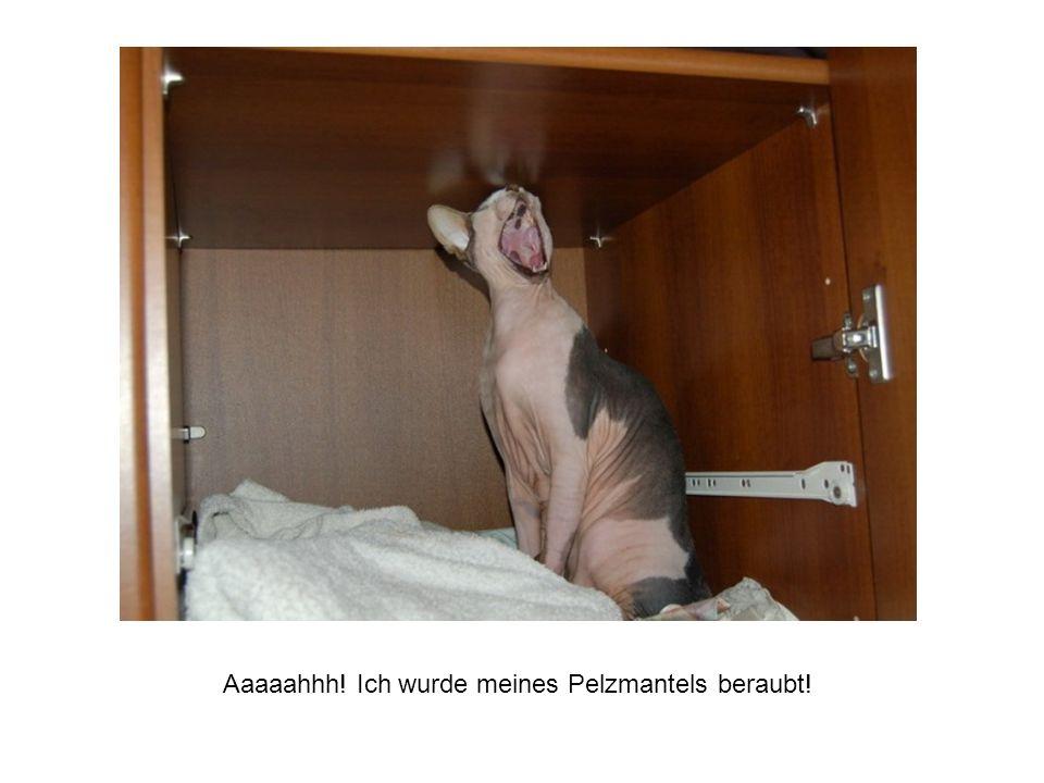 Aaaaahhh! Ich wurde meines Pelzmantels beraubt!