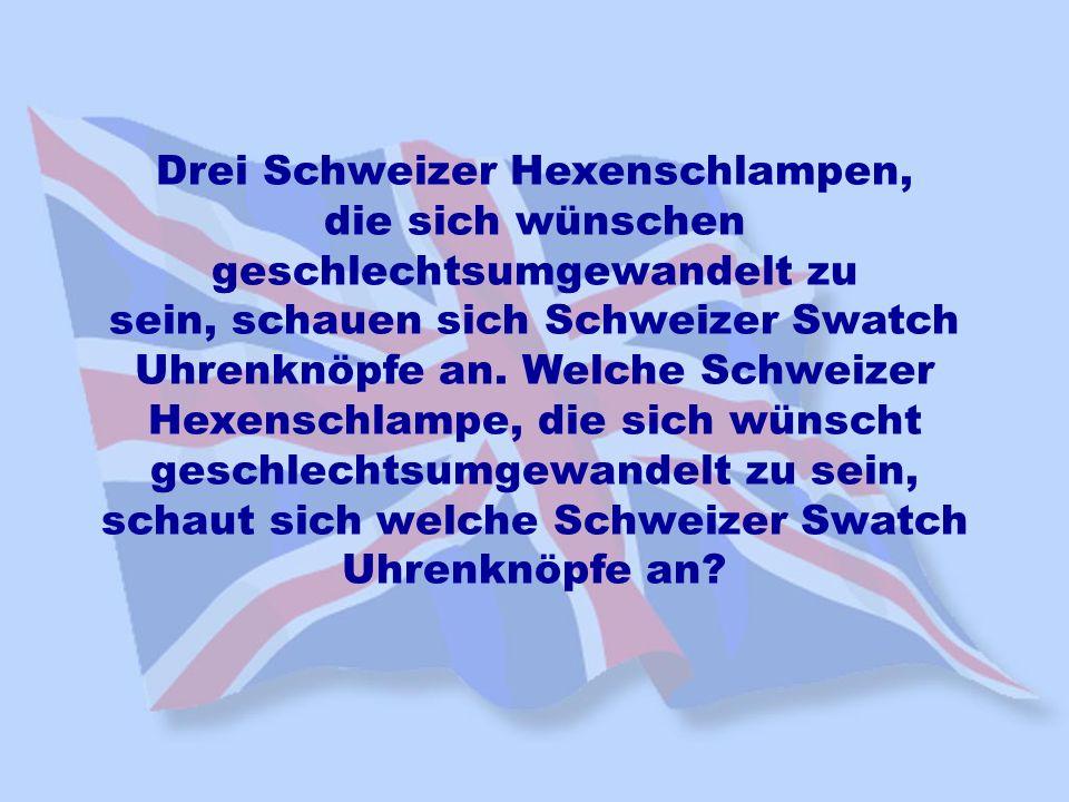 Drei Schweizer Hexenschlampen, die sich wünschen geschlechtsumgewandelt zu sein, schauen sich Schweizer Swatch Uhrenknöpfe an. Welche Schweizer Hexens