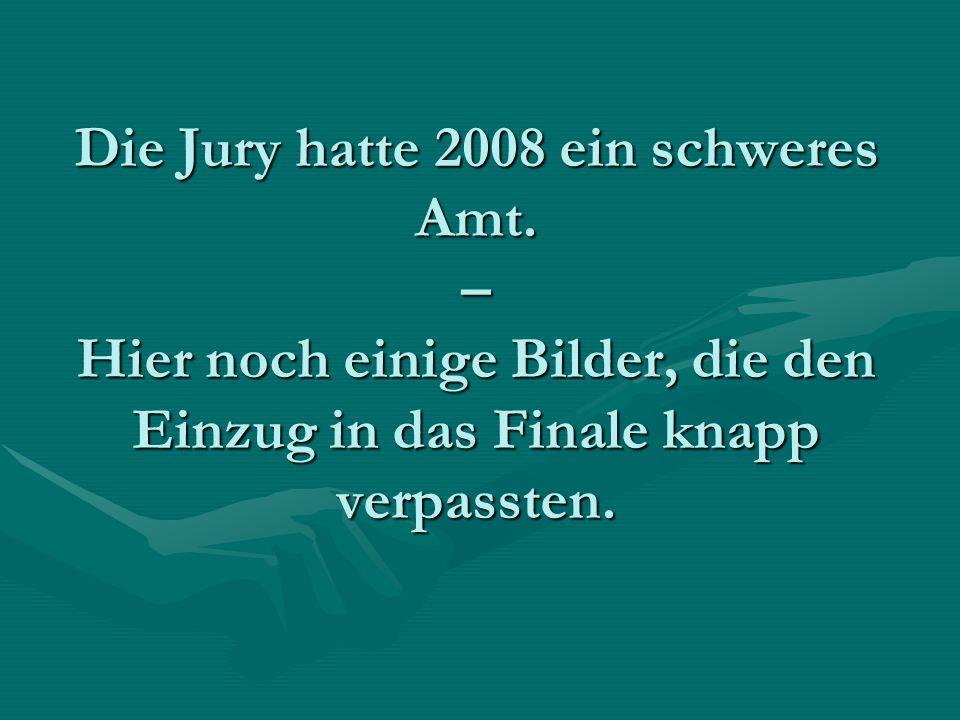 Die Jury hatte 2008 ein schweres Amt.