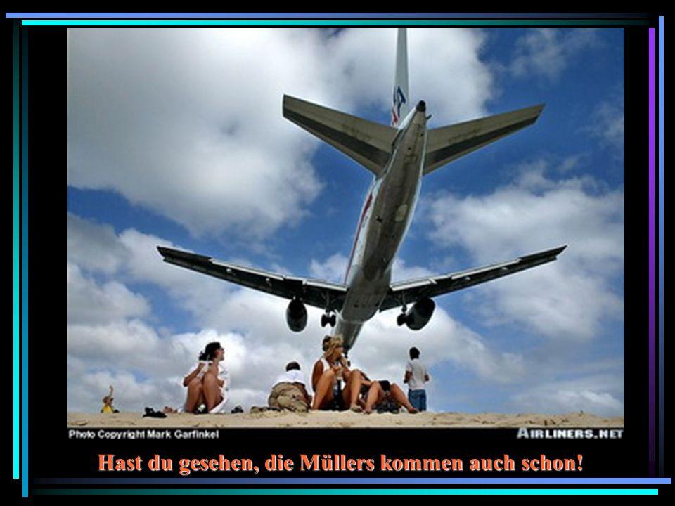 Hast du gesehen, die Müllers kommen auch schon!
