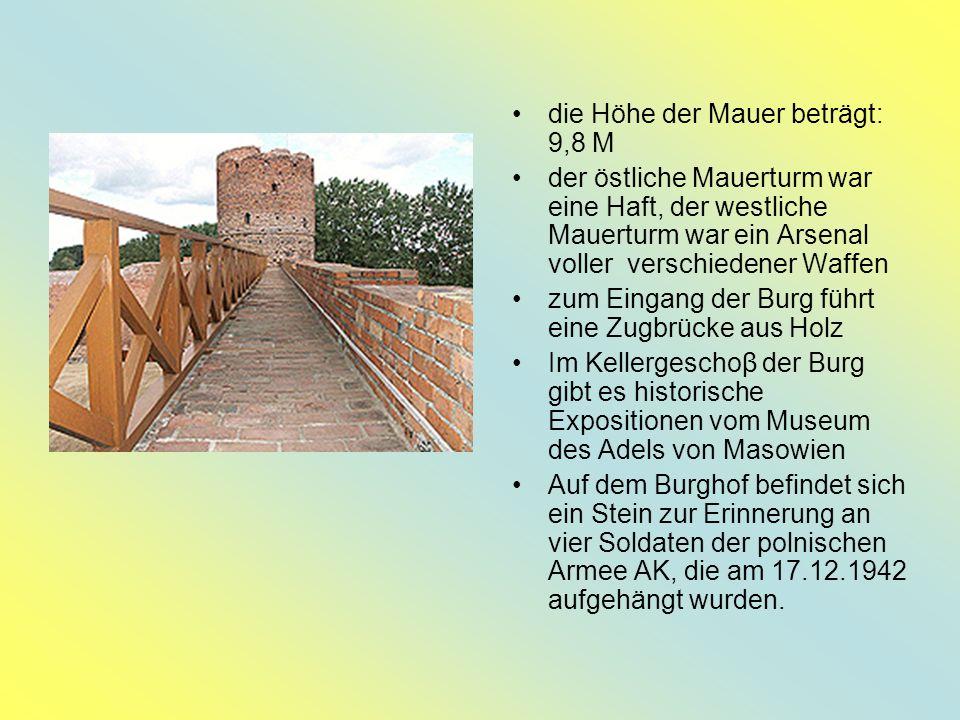 Die Burg der Fürsten von Masowien Die schönsten Sehenswürdigkeit in Ciechanów: 1344 begann Siemowit II den Bau der Burg, die Janusz I endete.