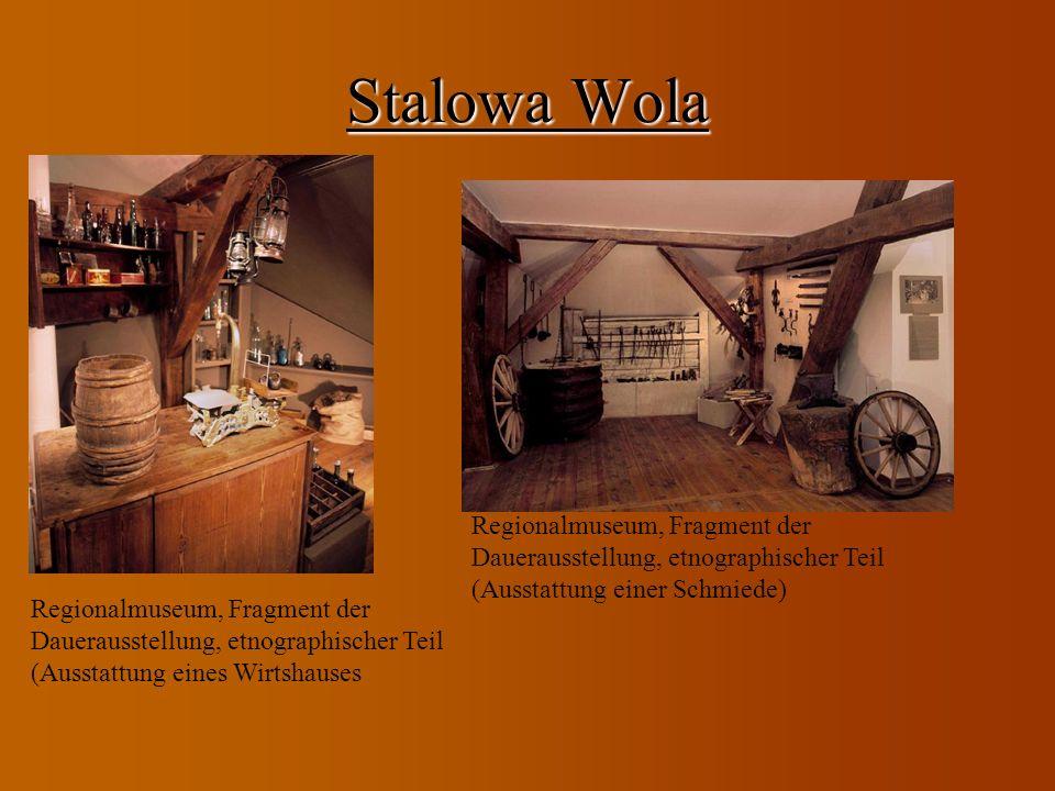 Stalowa Wola Regionalmuseum, Fragment der Dauerausstellung, etnographischer Teil (Ausstattung eines Wirtshauses Regionalmuseum, Fragment der Dauerauss