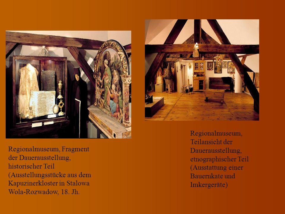 Regionalmuseum, Fragment der Dauerausstellung, historischer Teil (Ausstellungsstücke aus dem Kapuzinerkloster in Stalowa Wola-Rozwadow, 18. Jh. Region